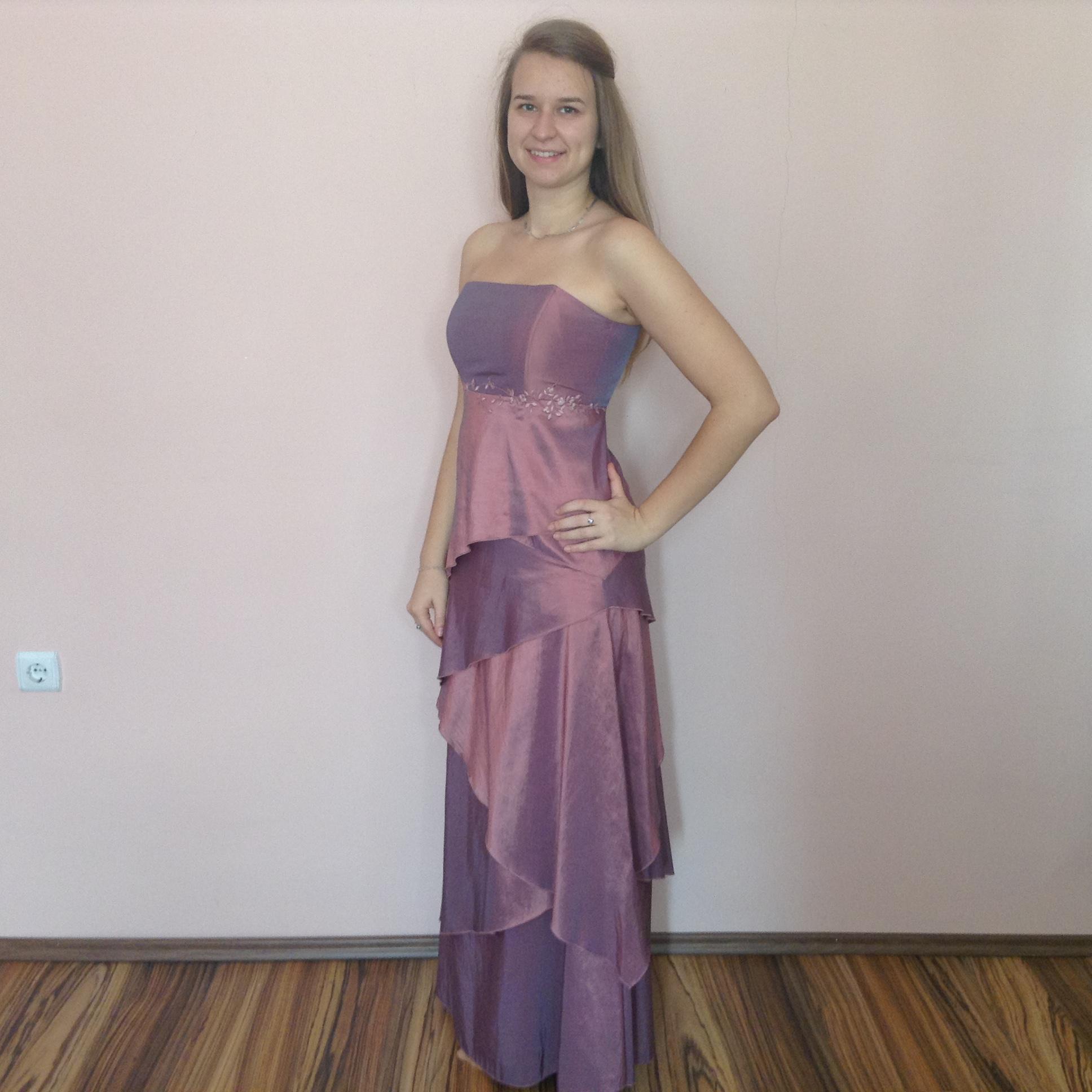 Lila koszorúslány ruha (A-L-7) - Evelin Esküvői Ruhaszalon