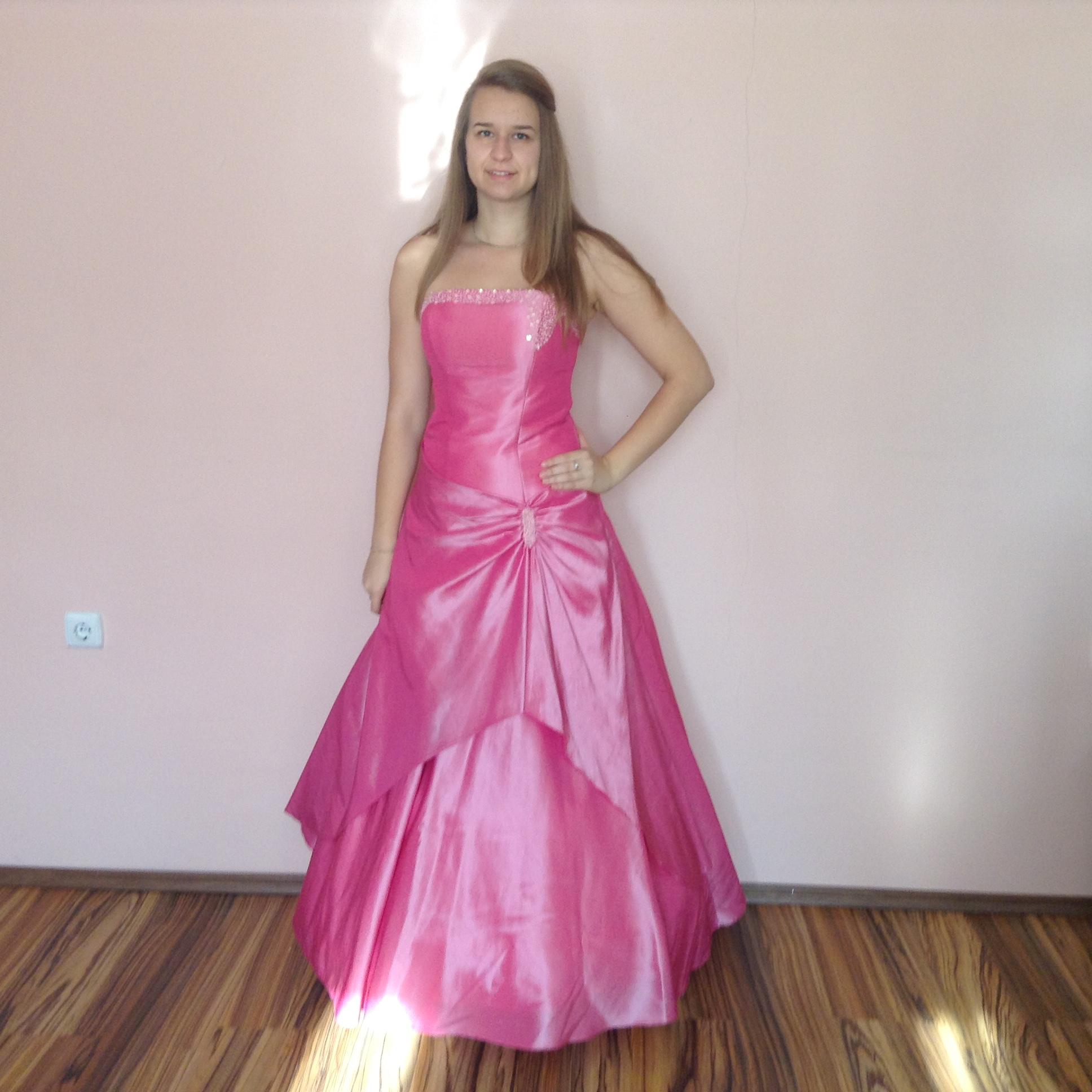 5db654aec69 Rózsaszín koszorúslány ruha (R-45) - Evelin Esküvői Ruhaszalon