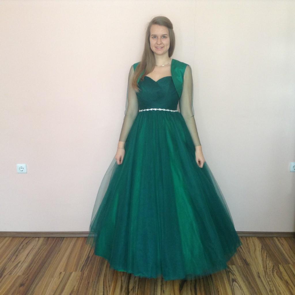 60d9386545 Zold tull kouszoruslany ruha (ZT-1) 1 - Evelin Esküvői Ruhaszalon