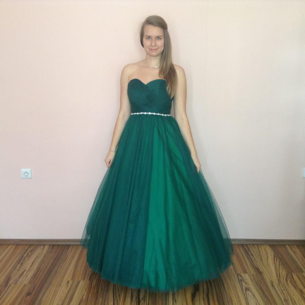 ee01ec037e Zold tull kouszoruslany ruha (ZT-1) 2 - Evelin Esküvői Ruhaszalon