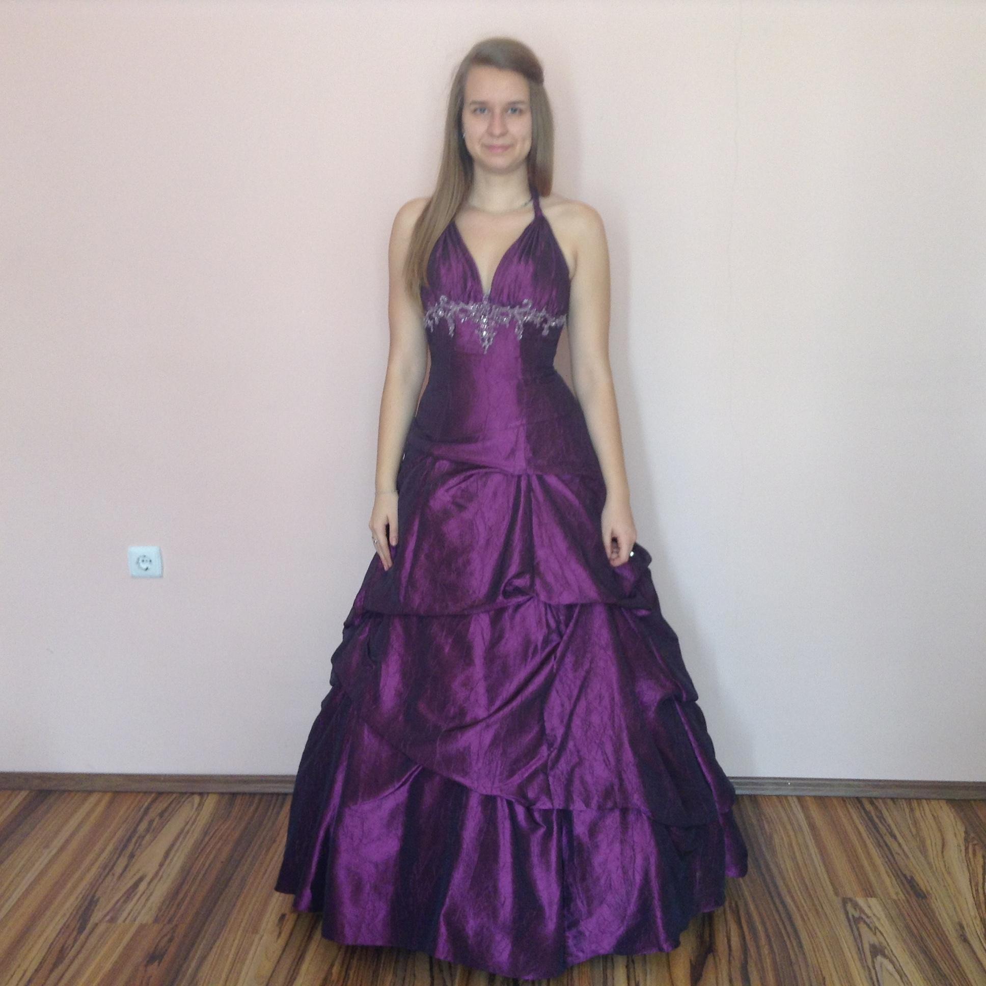 Lila koszorúslány ruha (L-37100) - Evelin Esküvői Ruhaszalon