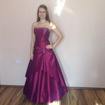 Lila koszorúslány ruha (L-3) - Evelin Esküvői Ruhaszalon